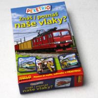 Pexetrio - znáš naše vlaky? - náhled krabice